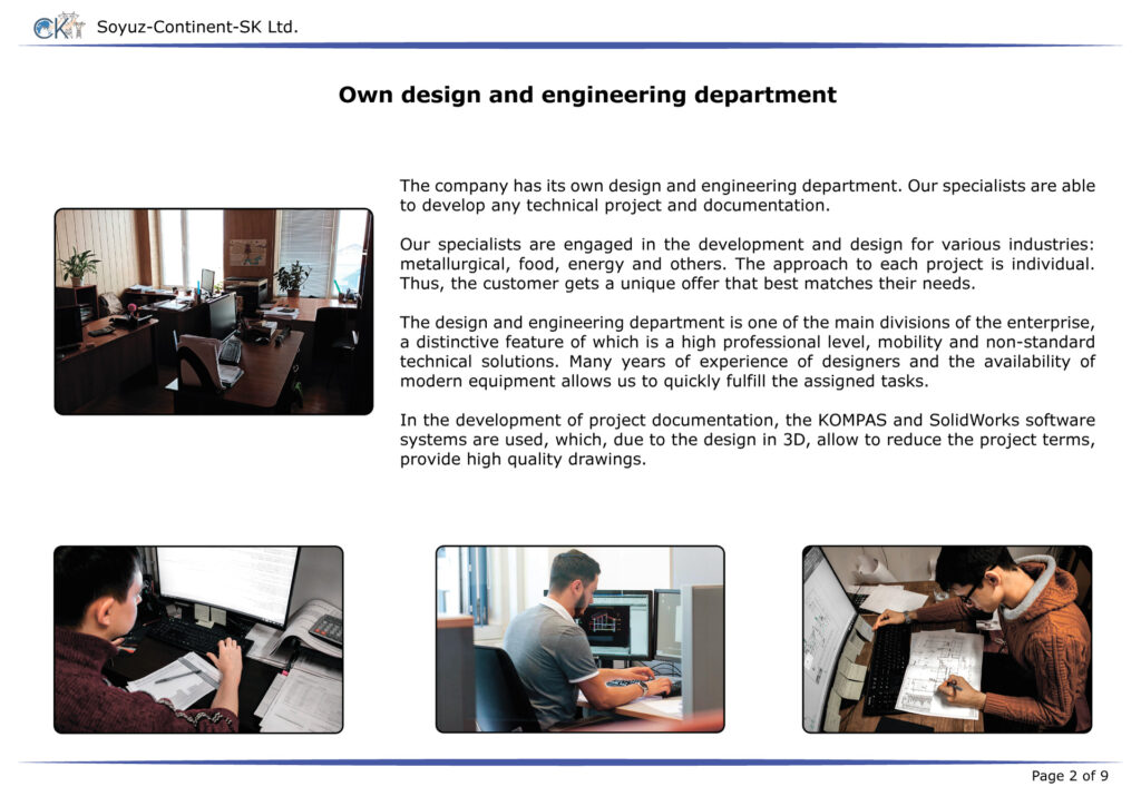 Presentation - manufacturing services