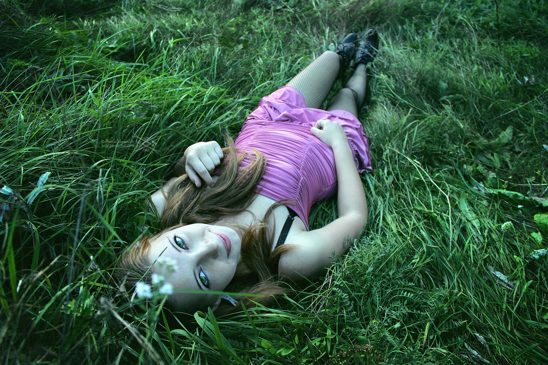 Girl in the grass