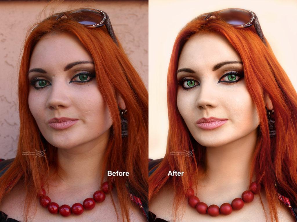 Portrait of a redhead