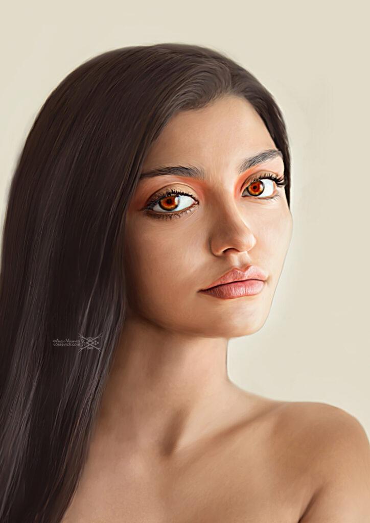 Digital Art – Brown-eyed